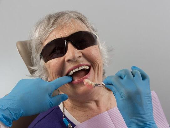 senior patient receiving dental care